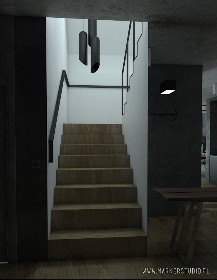 MArker Industrial style corridor, hallway and stairs