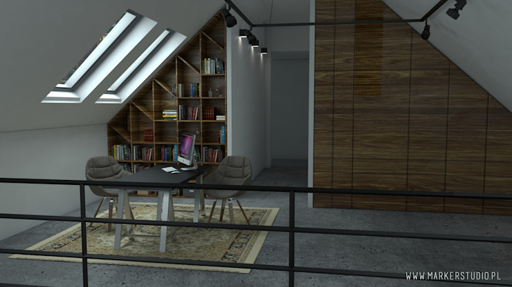 MArker Industrial style study/office Wood Grey