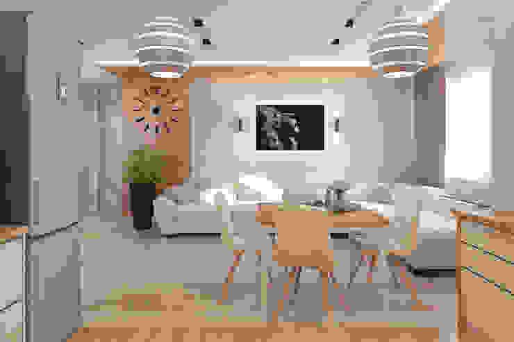 Светло и просторно Гостиная в стиле минимализм от Гузалия Шамсутдинова   KUB STUDIO Минимализм