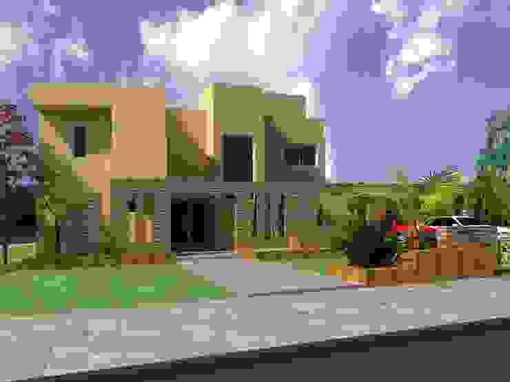 Proyecto en country Los Olivos Casa PZNL Casas modernas: Ideas, imágenes y decoración de Obras & Proyectos Moderno