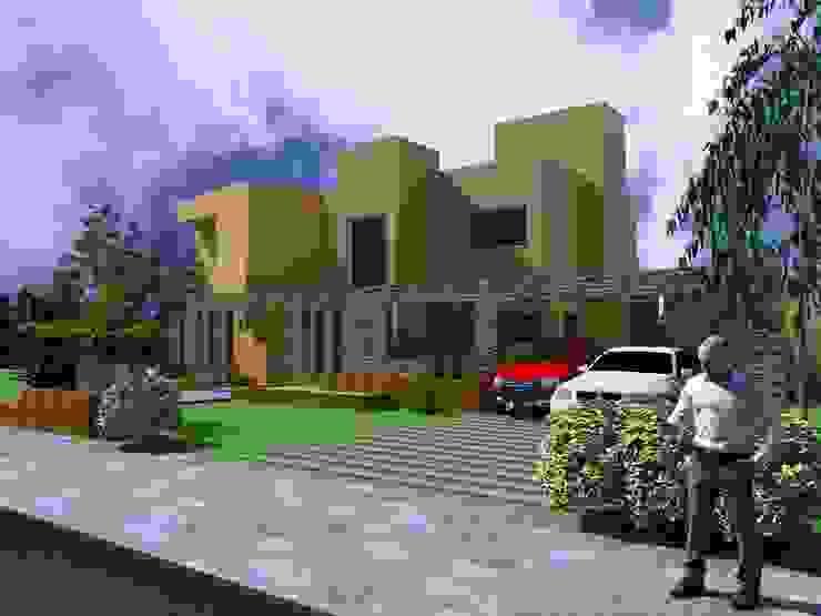 Proyecto en country Los Olivos Casa PZNL Casas minimalistas de Obras & Proyectos Minimalista