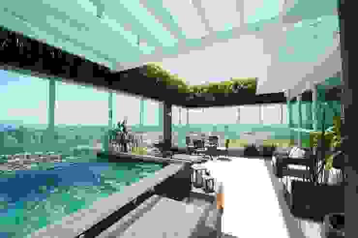 Balcone, Veranda & Terrazza in stile moderno di Felipe Mascarenhas Paisagismo Moderno