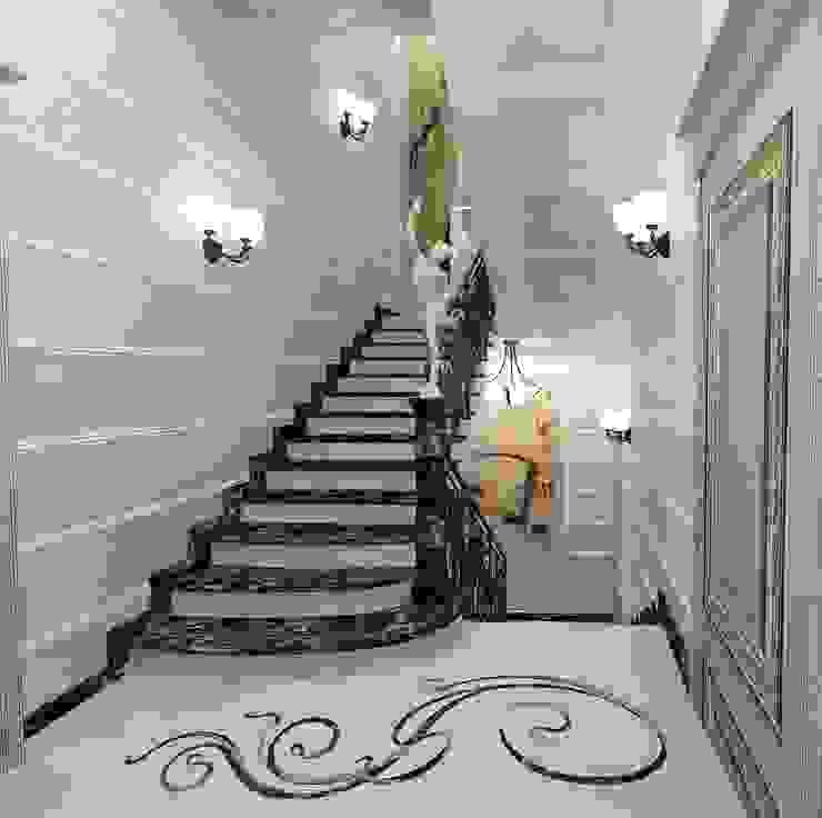 Лестница Коридор, прихожая и лестница в классическом стиле от Дизайн-студия Сергеевой Надежды Классический