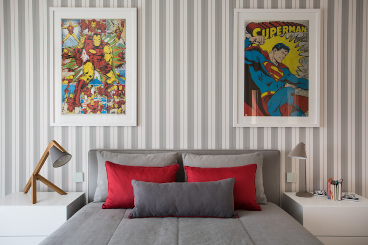 quarto de rapaz por CASA MARQUES INTERIORES Moderno Têxtil Ambar/dourado