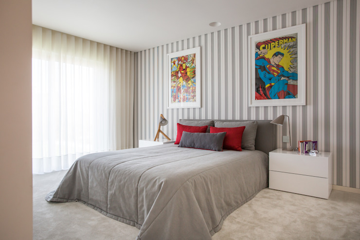modern  by CASA MARQUES INTERIORES, Modern Cotton Red