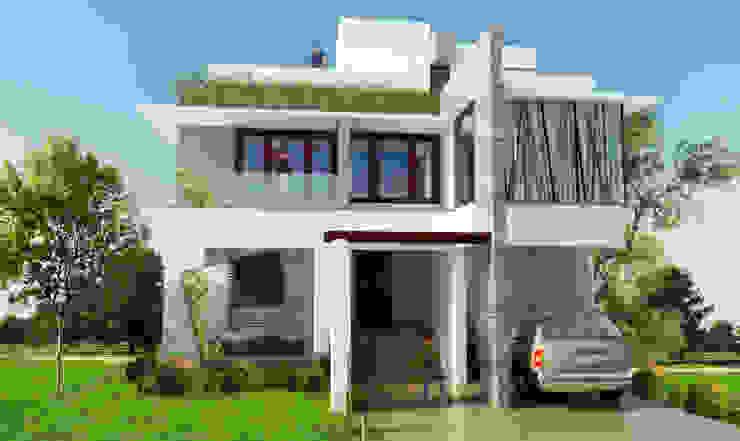 Mr. Babu Residence Modern houses by Izza Architects & Interior designers Modern