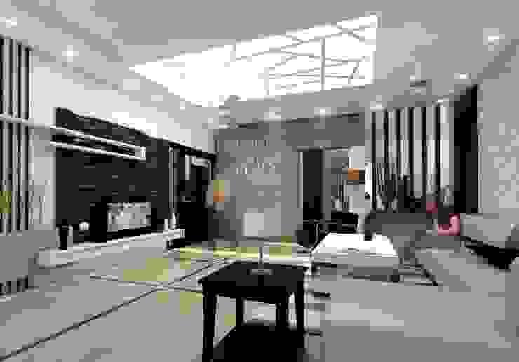 Mr. Babu Residence Modern living room by Izza Architects & Interior designers Modern