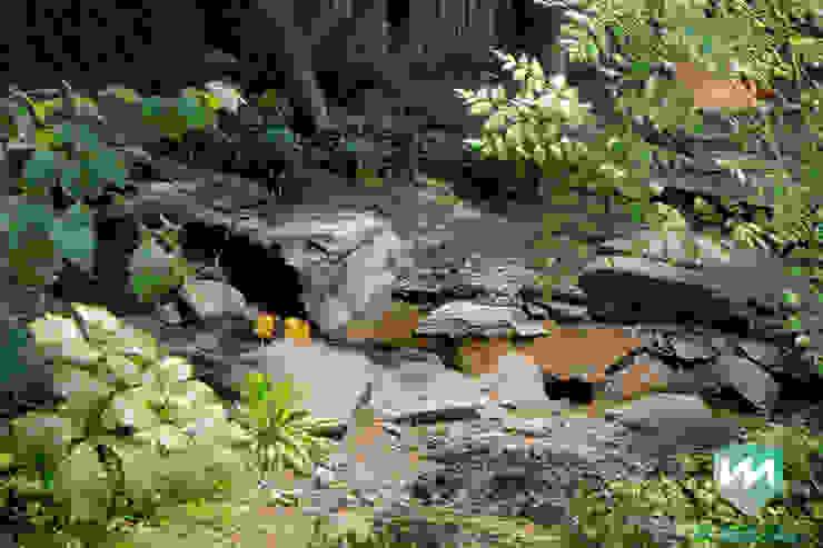 Exclusieve bostuin met waterloop en infinity-pool Moderne tuinen van Van Mierlo Tuinen   Exclusieve Tuinontwerpen Modern