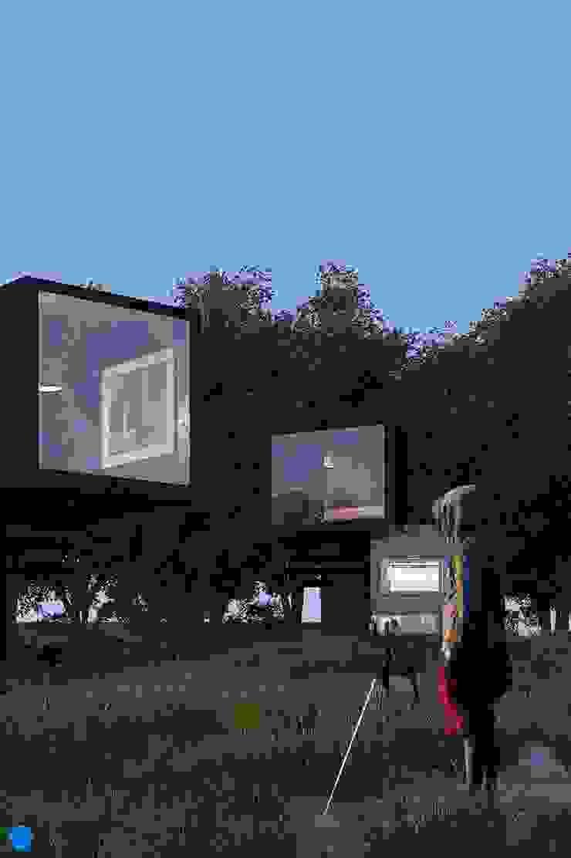 Black Box Casas minimalistas de BenSin Estudio de Visualización Minimalista Hormigón