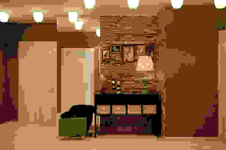 """Дизайн прихожей в квартире в ЖК """"Большой"""" Коридор, прихожая и лестница в стиле минимализм от Студия интерьерного дизайна happy.design Минимализм"""