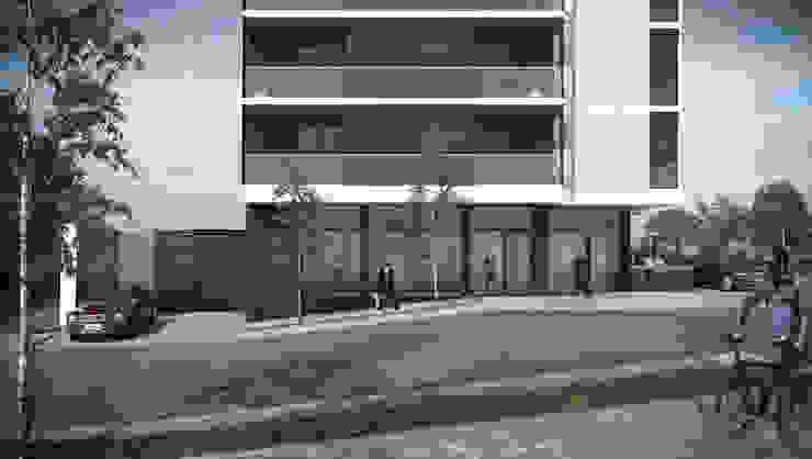 Ingreso a cocheras Gemma 2 Casas modernas: Ideas, imágenes y decoración de Akros S.R.L. Moderno