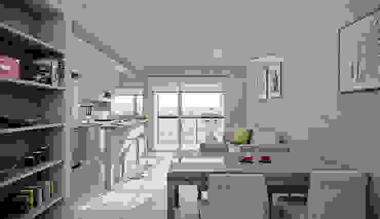 Departamento 1 dormitorio Casas modernas: Ideas, imágenes y decoración de Akros S.R.L. Moderno