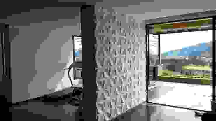 PAREDES EN 3D Paredes y pisos de estilo moderno de dekora2013 Moderno Bambú Verde
