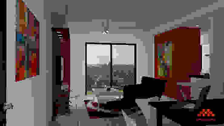 Moderne Bürogebäude von AM Estudios Modern
