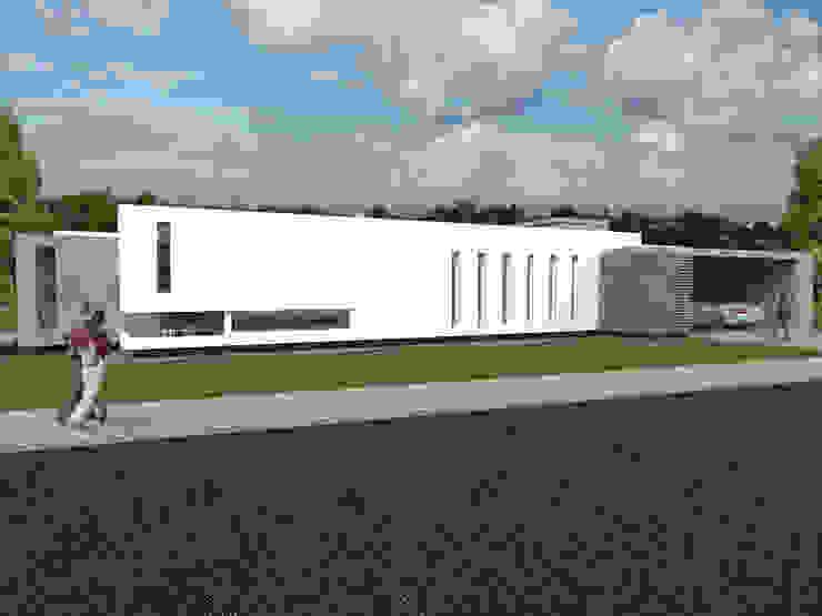 Frente Principal Casas modernas: Ideas, imágenes y decoración de Poggi Schmit Arquitectura Moderno