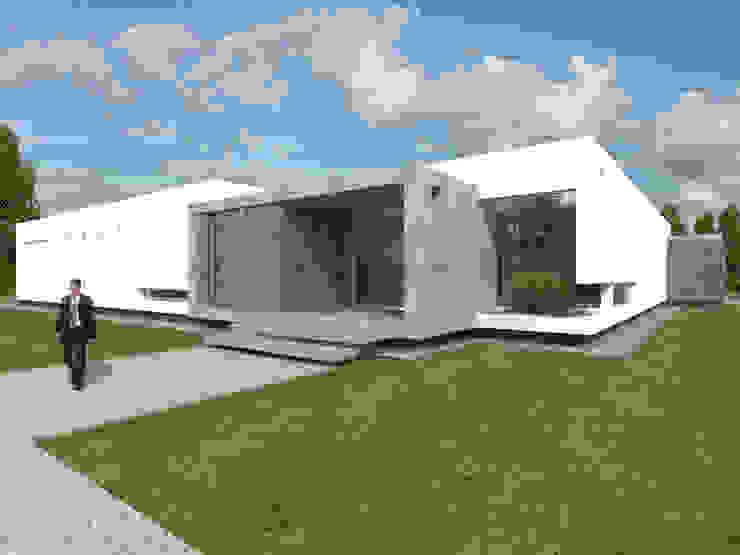 Frente Principal 2 Casas modernas: Ideas, imágenes y decoración de Poggi Schmit Arquitectura Moderno