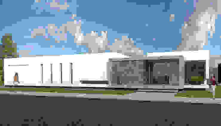 Frente Principal 3 Casas modernas: Ideas, imágenes y decoración de Poggi Schmit Arquitectura Moderno