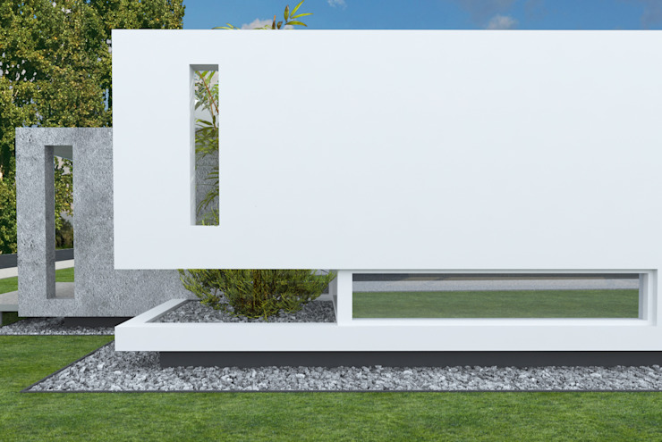 Detalle de Fachada Casas modernas: Ideas, imágenes y decoración de Poggi Schmit Arquitectura Moderno