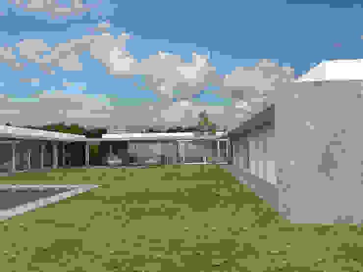 Desde Patio 2 Casas modernas: Ideas, imágenes y decoración de Poggi Schmit Arquitectura Moderno
