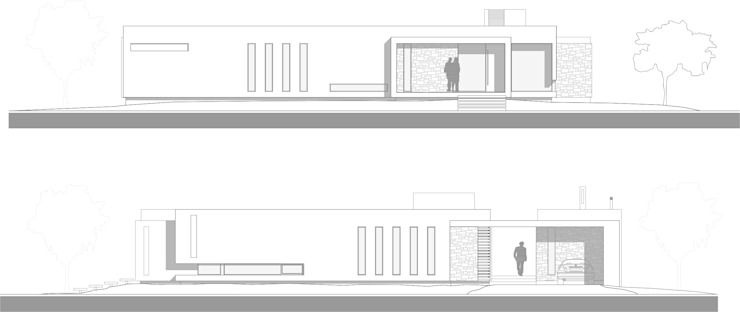 Fachadas Casas modernas: Ideas, imágenes y decoración de Poggi Schmit Arquitectura Moderno