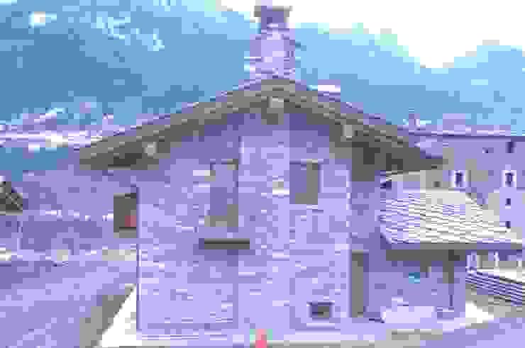 Casas de estilo  por Sangineto s.r.l, Rústico Piedra