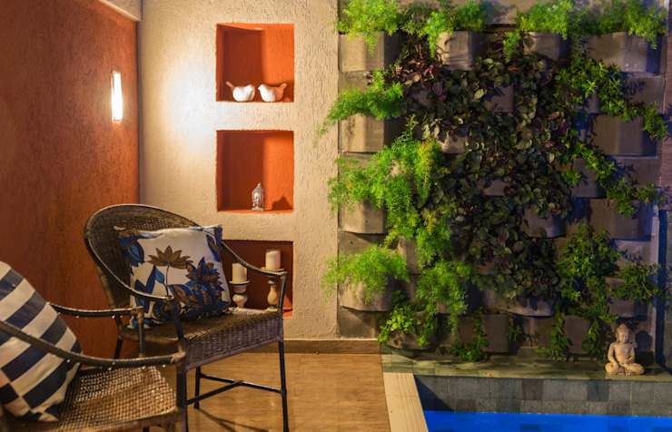 Giardino tropicale di Gisele Ribeiro Arquitetura Tropicale Pietra
