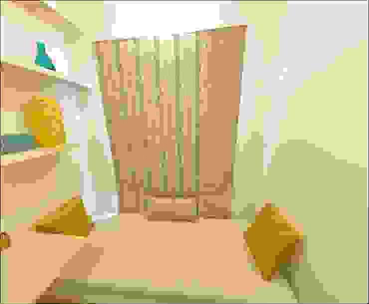 Two BHK -Model apartment - Embassy Builders Chennai Minimalist bedroom by Uncut Design Lab Minimalist