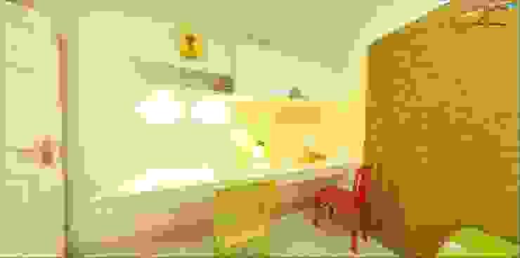 kid's bedroom - Study wall Modern style bedroom by Uncut Design Lab Modern