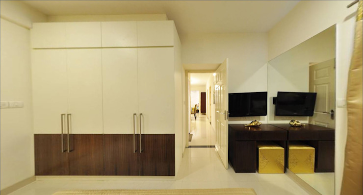 master bedroom by Uncut Design Lab Asian