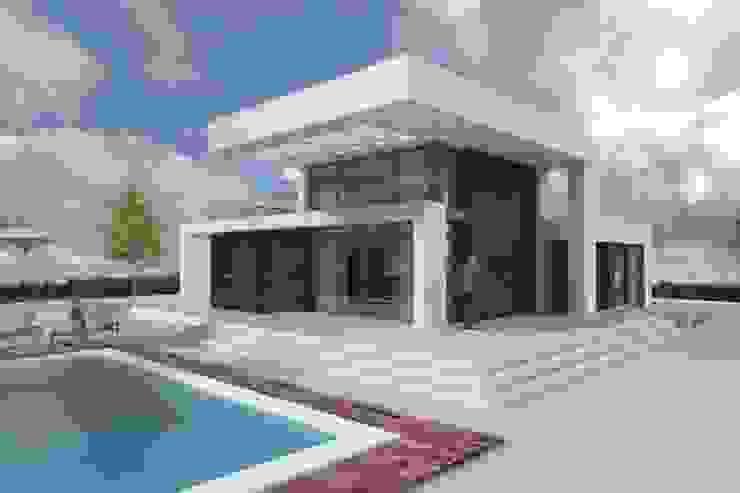 HUECO DOBLE, DOBLE ESCALA PARA EL SOL DYOV STUDIO Arquitectura, Concepto Passivhaus Mediterraneo 653 77 38 06 Casas de estilo moderno Madera Blanco