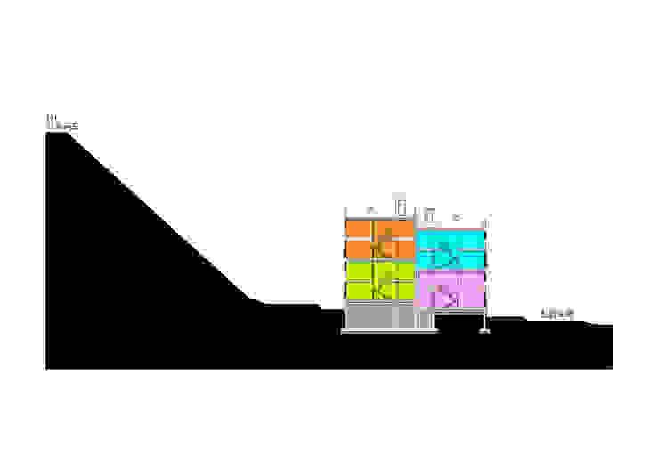 대지 단면도1: 구름집 02-338-6835의 현대 ,모던