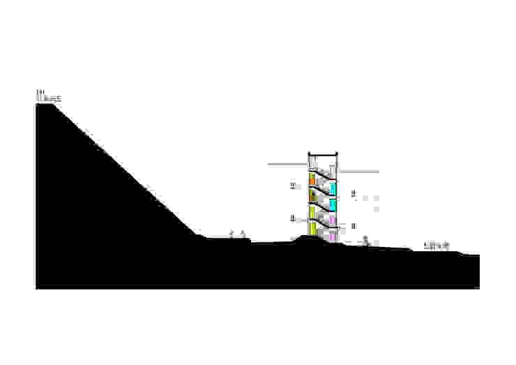 대지 단면도2: 구름집 02-338-6835의 현대 ,모던