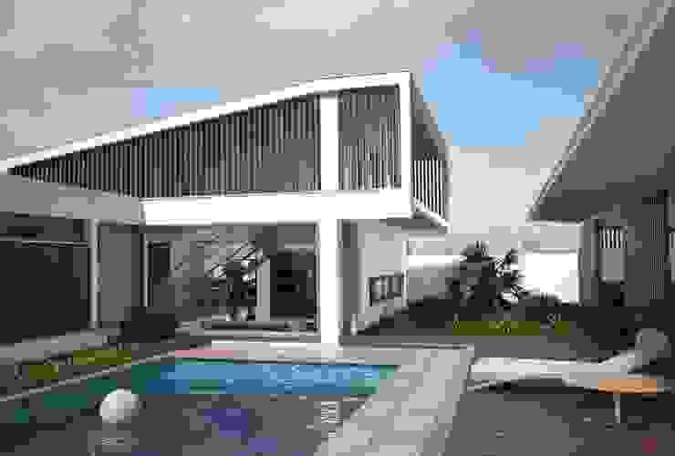 Pátio Exterior Casas modernas por PROJETARQ Moderno