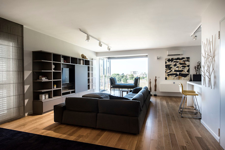 现代客厅設計點子、靈感 & 圖片 根據 Laboratorio di Progettazione Claudio Criscione Design 現代風