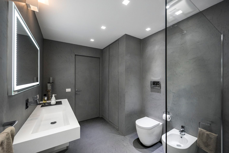 Laboratorio di Progettazione Claudio Criscione Design 現代浴室設計點子、靈感&圖片