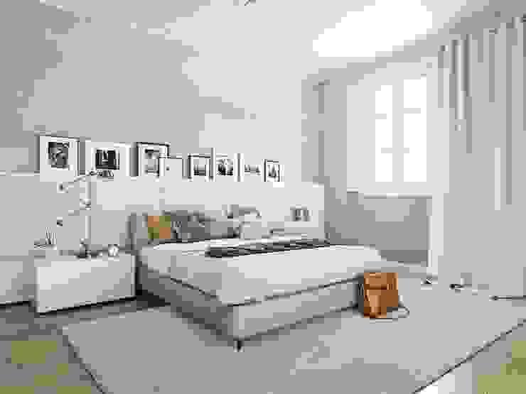Render 3D vivienda en Barcelona Dormitorios de estilo moderno de Berga&Gonzalez - arquitectura y render Moderno