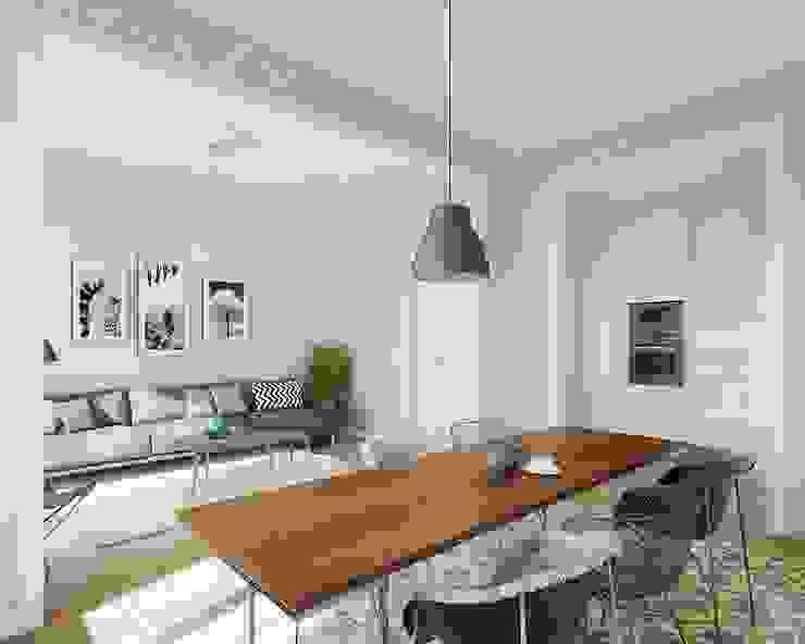 Render 3D vivienda en Barcelona Comedores de estilo moderno de Berga&Gonzalez - arquitectura y render Moderno