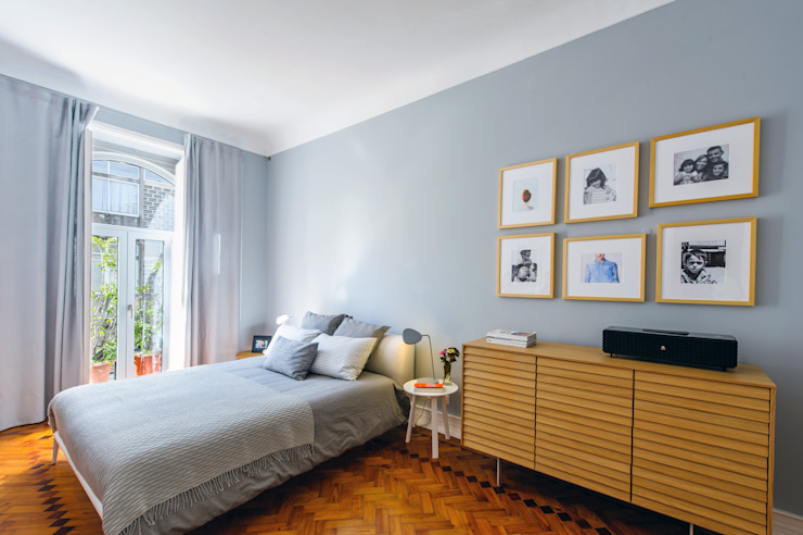 Scandinavian style bedroom by Espaço Mínimo Scandinavian