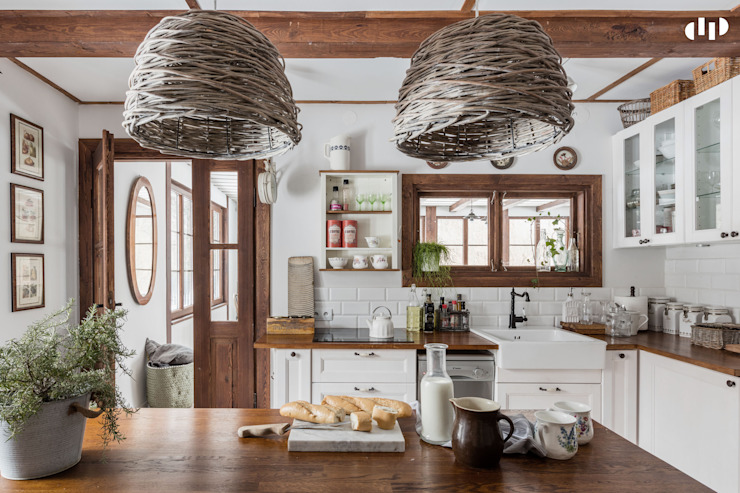 Rustic style kitchen by dziurdziaprojekt Rustic Wood Wood effect