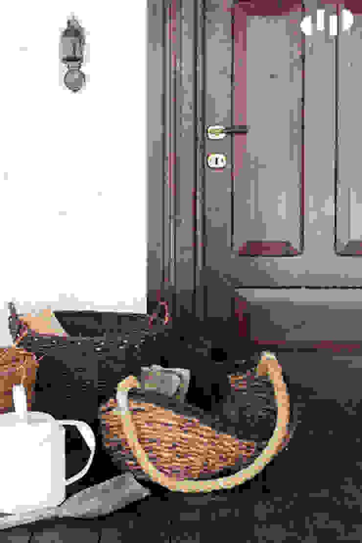 dziurdziaprojekt Balcon, Veranda & Terrasse rustiques