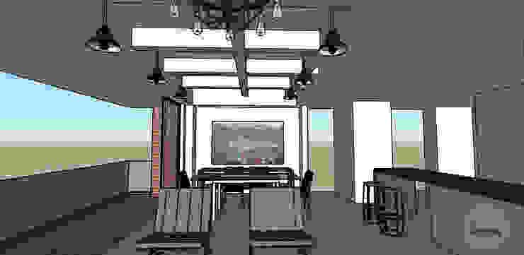 Diseño 3D Salas de estilo industrial de DeftoHomeStudio INC Industrial