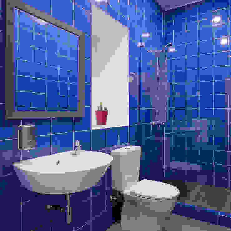 Baños rústicos de ARCO mais - arquitectura e construção Rústico Azulejos