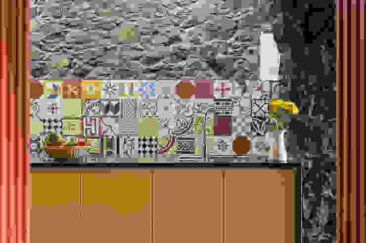 Rustikale Küchen von ARCO mais - arquitectura e construção Rustikal Keramik