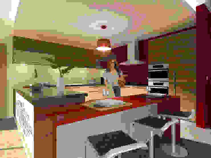 Projecto de Remodelação na Marisol Cozinhas modernas por Projectos Arquitectura & 3D Moderno