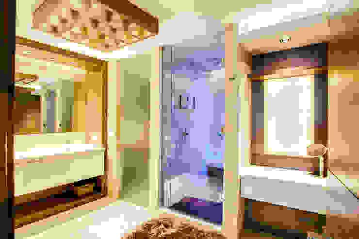 浴室 by Art.chitecture, Taller de Arquitectura e Interiorismo 📍 Cancún, México., 現代風