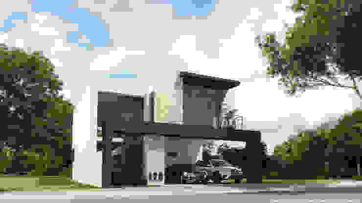 Perspectiva fachada principal de Diez y Nueve Grados Arquitectos