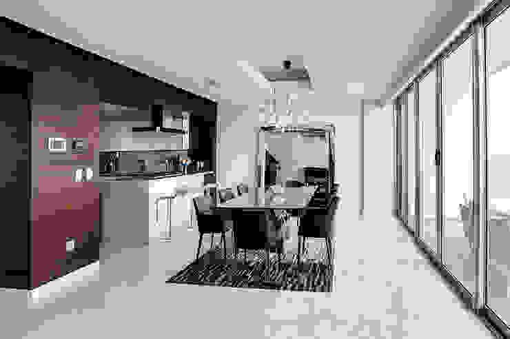 Pent-house LAHIA Comedores modernos de Art.chitecture, Taller de Arquitectura e Interiorismo 📍 Cancún, México. Moderno