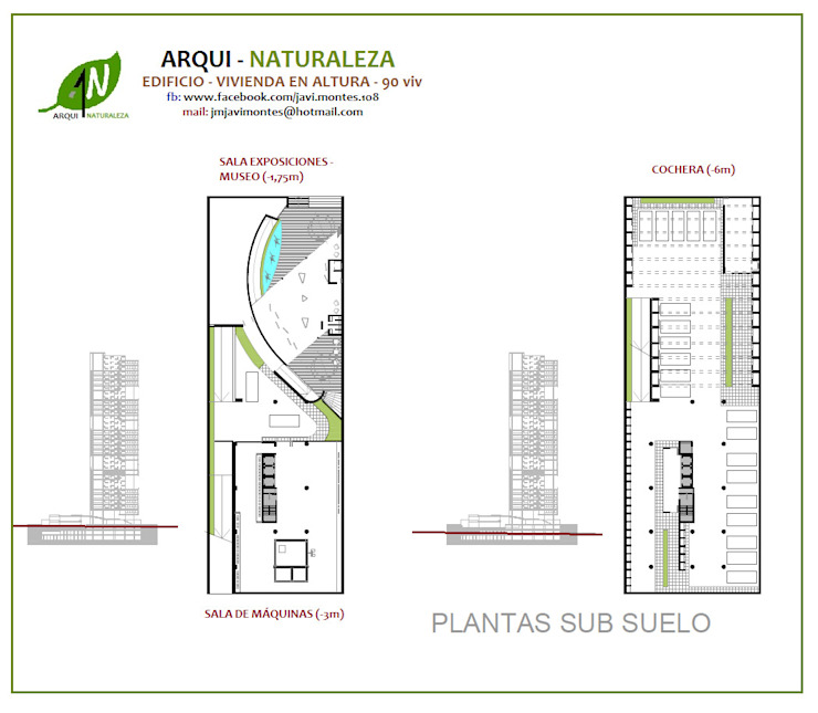 PLANTA SUB SUELO de ARQUI - NATURALEZA