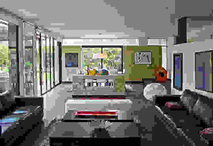 Salas / recibidores de estilo  por David Macias Arquitectura & Urbanismo