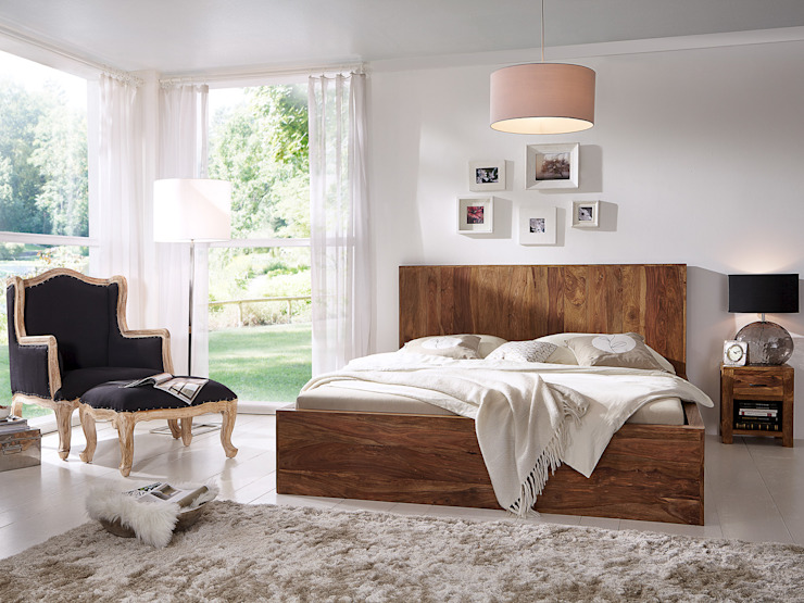 Sunchairs GmbH & Co.KG BedroomBeds & headboards Wood Brown